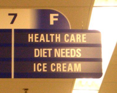 Aisle 7F: Health Care, Diet Needs, Ice Cream