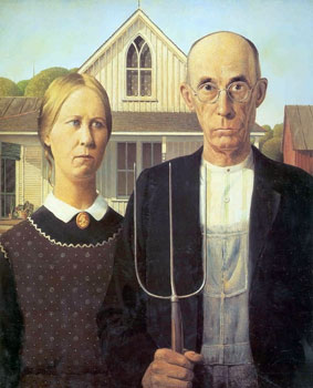 Thumbnail of the American Gothic Painting