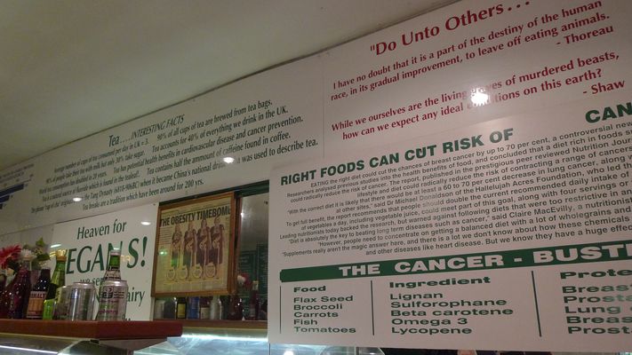 Signs on the wall at Indian Veg