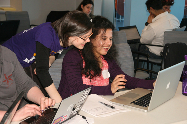Photo from the Boston Python Workshop – a similar workshop run in Boston that has inspired and provided a template for the CDSW.